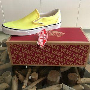 VANS Neon Lemon Classic Slip-On Sneakers